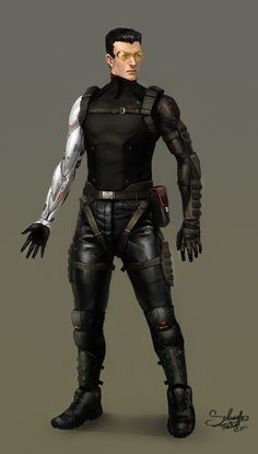Cyberpunk Character Concept by SaturnoArg.deviantart.com on @deviantART