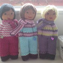 freche Lausbuben Baby Knitting Patterns, Loom Knitting, Doll Patterns, Crochet Patterns, Knitted Dolls, Crochet Dolls, Fabric Dolls, Paper Dolls, Tricot Simple