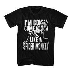Talladega Nights Spider Monkey Black T-Shirt