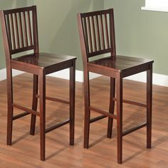 ok chair. price is right at $83.99 for a set of two. TMS 30 in. Shaker Bar Stool - Set of 2 | from hayneedle.com