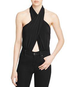 Bardot Wrap Up Cross Front Bodysuit - Bloomingdale's Exclusive
