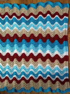 Ravelry: Project Gallery for Feather and Fan Rainbow Baby Blanket pattern by Cathy Waldie
