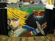 Legend of Zelda Portrait Made Entirely Out Of LEGO