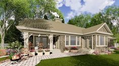 Stylish Stone Craftsman Cottage - 14601RK thumb - 04