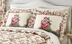 Floral English Rose Garden Pillow Sham