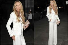 So.. Do you think I could get away with a white pant suit instead of a dress?