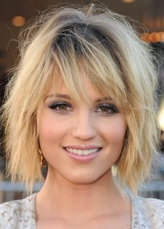 Dianna Agron Mussy Bob Hairstyle