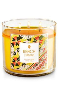 Beach Cabana 3-Wick Candle - Home Fragrance 1037181 - Bath & Body Works