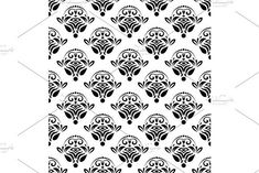 Oriental vector pattern with damask, arabesque and floral elements. Damask Patterns, Arabesque, Vector Pattern, Abstract Backgrounds, Graphic Design, Texture, Floral, Surface Finish, Flowers