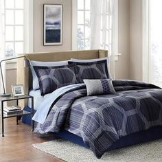 Refresh your master suite or guest room with this luxe duvet set, showcasing a geometric motif in wisteria.    Product: Twin:  1 Comforter, 1 bed skirt, 1 standard sham, 1 flat sheet, 1 fitted sheet, 1 pillowcase and 1 accent pillowFull: 1 Comforter, 1 bed skirt, 2  standard shams, 1 flat sheet, 1 fitted sheet, 2 standard pillowcases and 1 accent pillowQueen: 1 Comforter, 1 bed skirt, 2  standard shams, 1 flat sheet, 1 fitted sheet, 2 standard pillowcases and 1 accent pillowKing: 1 ...