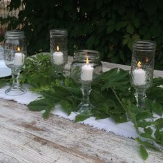 DIY {Budget} Mason Jar Stemware: 3 Ways!