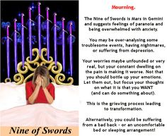 NINE OF SWORDS #tarotcardmeaning