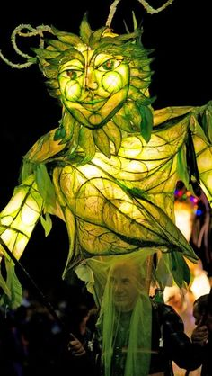 Halloween Art, Holidays Halloween, Dark Circus, Marionette, Green Man, Paper Lanterns, Conte, Light Art, Tarot