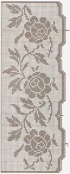 bordo rose   Hobby lavori femminili - ricamo - uncinetto - maglia