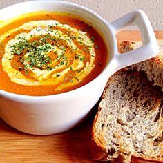 Thx - 234件のもぐもぐ - Pumpkin Soup & Pumpkin Seed Bread by Missty