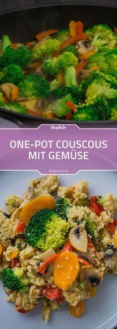 Einfaches Rezept für eine vegetarische One-Pot-Couscous Pfanne mit viel frischem Gemüse