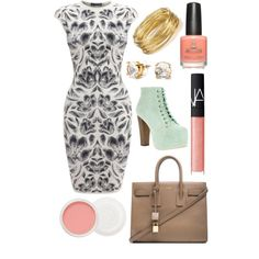 7 by amflegert on Polyvore featuring polyvore fashion style Alexander McQueen Jeffrey Campbell Yves Saint Laurent R.J. Graziano NARS Cosmetics Christian Dior C. Wonder