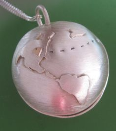 Long-Distance Relationship Necklaces for when you live in different countries....Soooo cute... This website customizes them :)