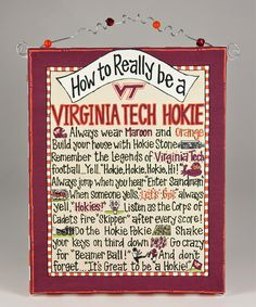 Virginia Tech 'How To' Beaded Canvas