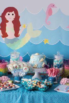 Mermaid Themed Birthday Party