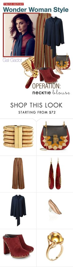 """WW Style Gal Gafot"" by cranetattoo ❤ liked on Polyvore featuring Balmain, Chloé, The Bee's Sneeze, Yossi Harari, IaM by Ileana Makri, Proenza Schouler, Goshwara, chloe, proenzaschouler and galgadot"