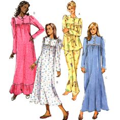 Butterick Sewing Pattern B4939 USED Misses'/Misses' Petite Pajamas - Top, Pants, Gown  SIZE: Y  4-14
