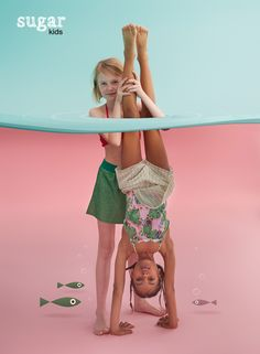 Chloe & Zoe from Sugar Kids for Hooligans Magazine by Eva Bozzo. #KidsFashionPoster