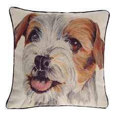 Terrier Dog 43cm x 43cm Wool Look Cushion Cover - McAlister