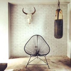 Every detail in this new #venue and #gathering hotspot is perfect. Gold dipped punching bags, art from the locals & even handmade communal tables. #mexico #venue #gather
