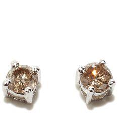 Colleen Lopez .24ct Champagne Diamond Stud Earrings