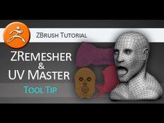 ZBrush tutorial on using ZRemesher and UV Master - YouTube Learn to use ZRemesher like a BADASS.