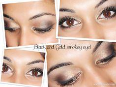 Black & Gold smokey eye