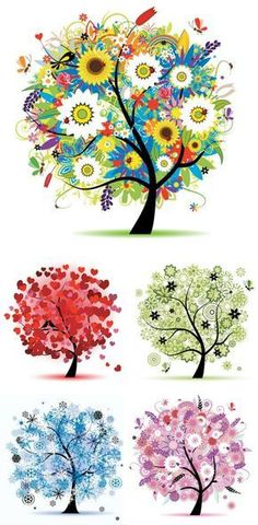 Seasons tree Vector Graphic available for free download at 4vector.com. Check out our collection of more than 180k free vector graphics for your designs. #design #freebies