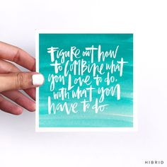 Hand lettering by Courtney Shelton / HIBRID