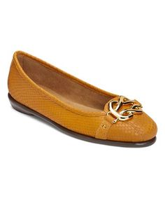 Love this Yellow Embossed High Bed Ballet Flat on #zulily! #zulilyfinds