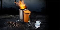 BioLite Camp Stove  Forget the fuel.  Charge your gadgets.  Support a better world.  Price:$129.00