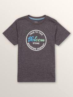 Volcom Little Boys Scrippy Short Sleeve Tee - Wrecked Indigo 3T