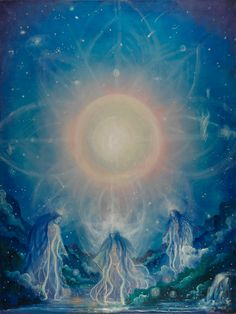 Enjoy the enlightenment and peace of inspired spiritual mandala paintings by Cynthia Rose Young. Wicca, Magick, Angel Cards, Mandala Painting, Angels And Demons, Holy Spirit, Fractals, Mystic, Fantasy Art