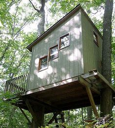 """Don Botsford, known as """"Grandpa"""" around Ann Arbor, Michigan, bought 20 acres in 1975 and turned it into a nature preserve. On the property, the 79-year-old's tree house has a sleeping loft, two bunks, a woodstove and solar-powered lighting. He encourages school tours, eager to share his naturalistic approach to life."""