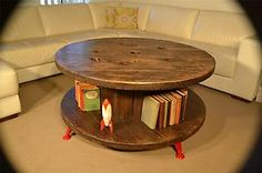 Vintage Industrial Cable Reel / Spool Table