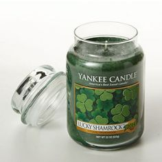 Yankee Candle Lucky Shamrock? 22oz. Jar Candle 22 Ounce, Green #gifts #shamrock #candles