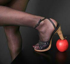 the apple one Stuart Weitzman, Apple, Sandals, Heels, Fashion, Apple Fruit, Heel, Moda, Shoes Sandals
