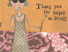 Lovely Thank You Notes - Curly Girl Design