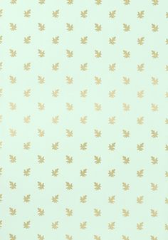 COTSWOLD, Metallic Gold on Aqua, T4180, Collection Richmond from Thibaut