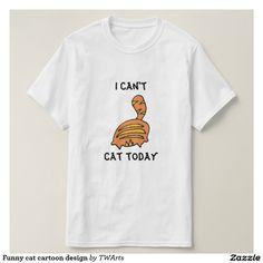 Funny cat cartoon design t shirt