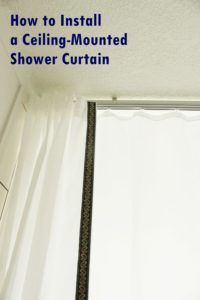 My friend once mentioned that her favorite designs include unexpected details. The bathroom is often a fairly predictable space, design-wise. Two Shower Curtains, Shower Curtain Rods, Bathroom Shower Curtains, Bathroom Faucets, Shower Rod, Glass Shower, Ceiling Mounted Curtain Track, Window Coverings, Dekoration