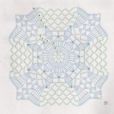 Crochet motifs chart In the round Circle, 4 quads ends as a circle Crochet Motif Patterns, Crochet Blocks, Crochet Mandala, Crochet Diagram, Crochet Chart, Crochet Squares, Thread Crochet, Filet Crochet, Crochet Designs