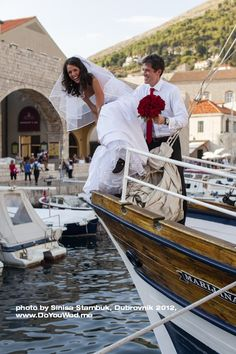 Boat Wedding Croatia << repinned by BoatsforsaleUK, follow us on Twitter @Cindy Burks for Sale UK for news & updates