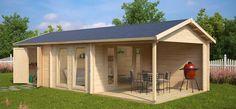 Neues 2-zimmer-Gartenhaus mit großer Terrasse Robin