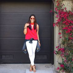 Make your denim blossom [featuring C/MEO Collective's Say It Right Top and Paige Denim's Verdugo Skinny]